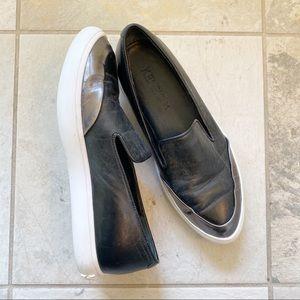 Kenzo Metallic Silver Slip On Sneakers Pointed Toe